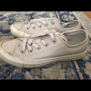 Converse size 5.5 gray leather shoes